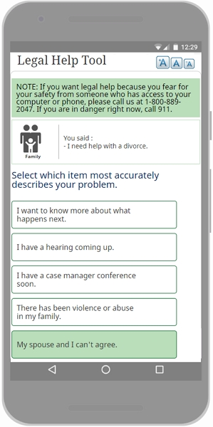 Legal Help Tool screenshot