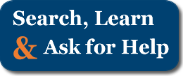Search, Learn and Ask for Help button