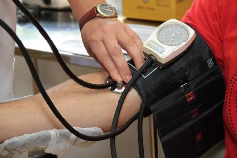 Photo of person getting their blood pressure measured