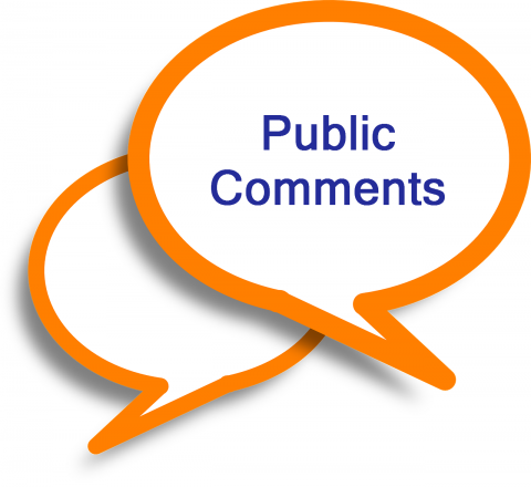 "Graphic that says ""Public comments"""
