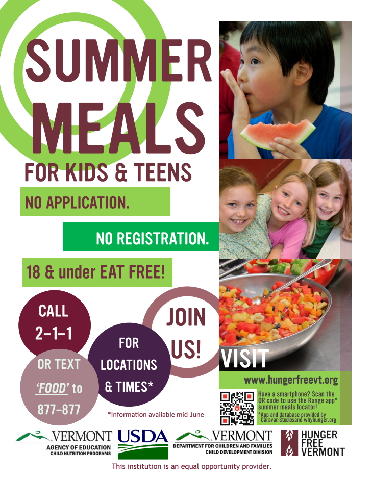 Image of summer meals promotional poster