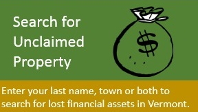 Unclaimed property graphic showing a bag of money